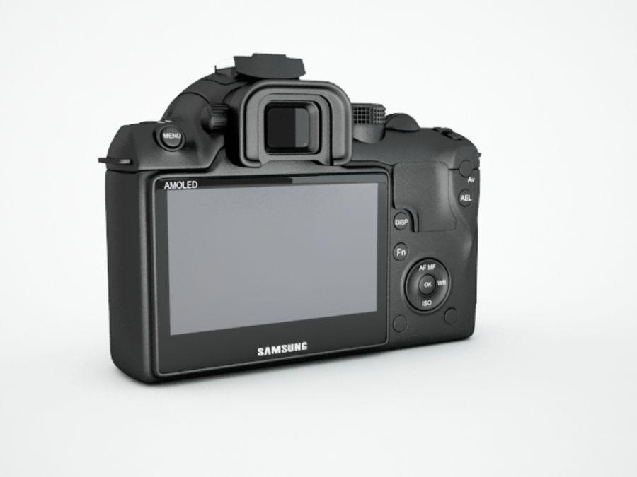 Samsung digital camera NX10 royalty-free 3d model - Preview no. 4