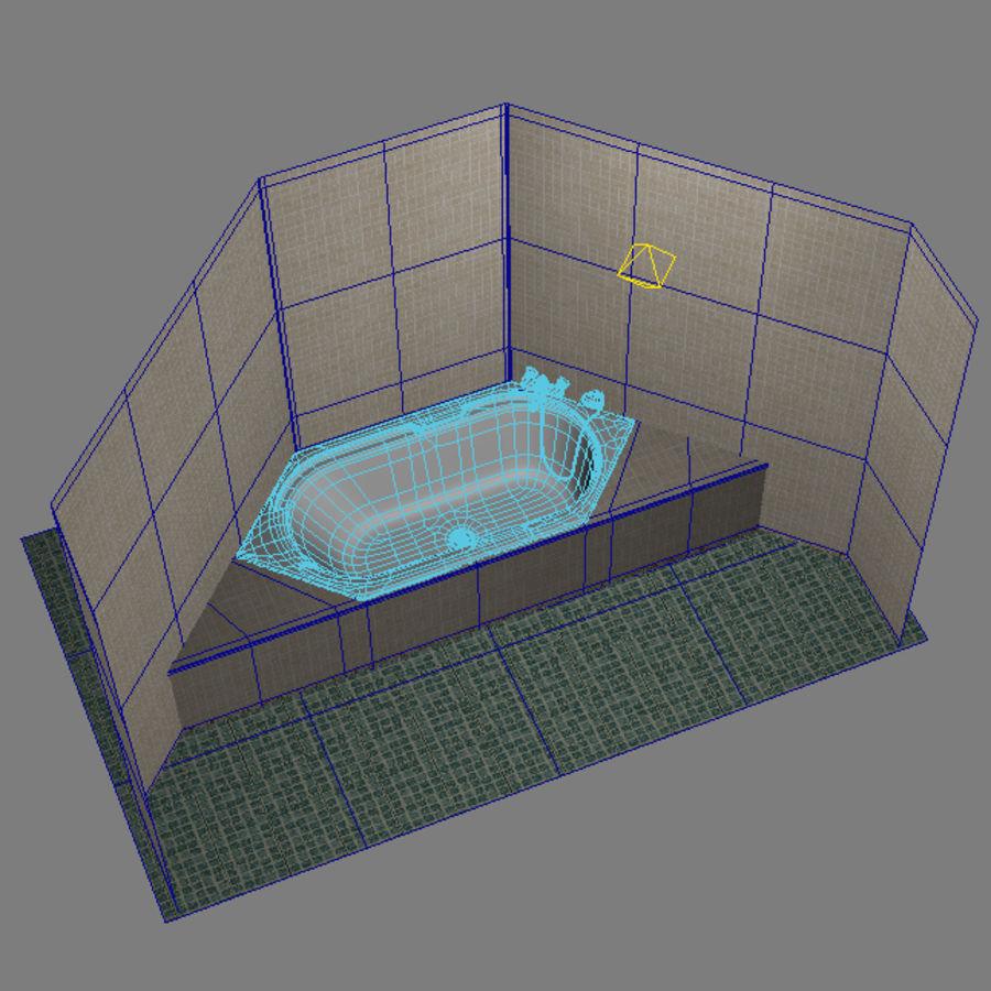 Bath hexagon royalty-free 3d model - Preview no. 6