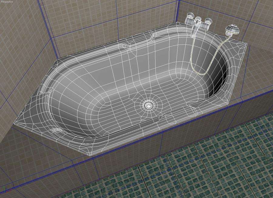 Bath hexagon royalty-free 3d model - Preview no. 2