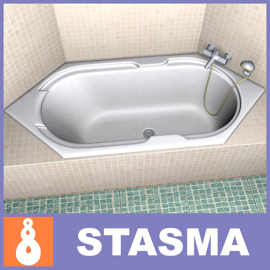 Bath hexagon royalty-free 3d model - Preview no. 1