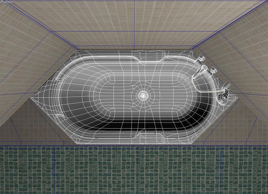 Bath hexagon royalty-free 3d model - Preview no. 5