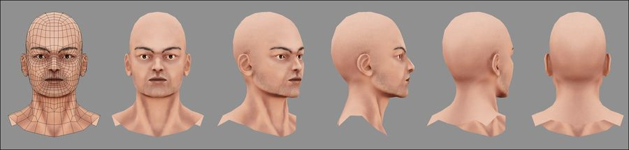 Human Male Bas Naked royalty-free 3d model - Preview no. 5