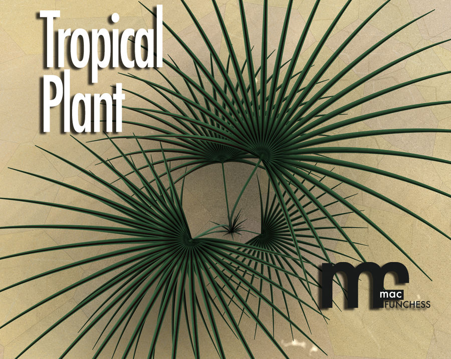 Tropical Plant royalty-free 3d model - Preview no. 1