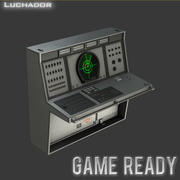 Radar Console Game Ready 3d model