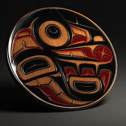 Aboriginal first nation art wall decoration 3d model