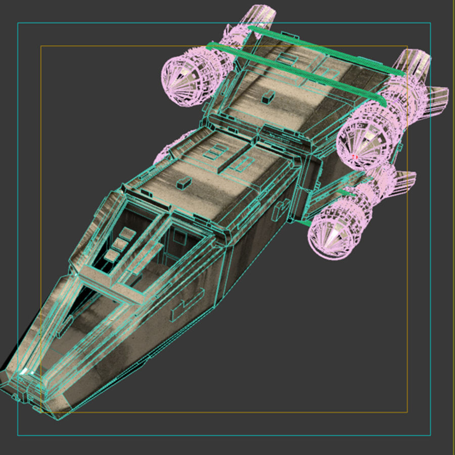 Shape Ship royalty-free 3d model - Preview no. 9
