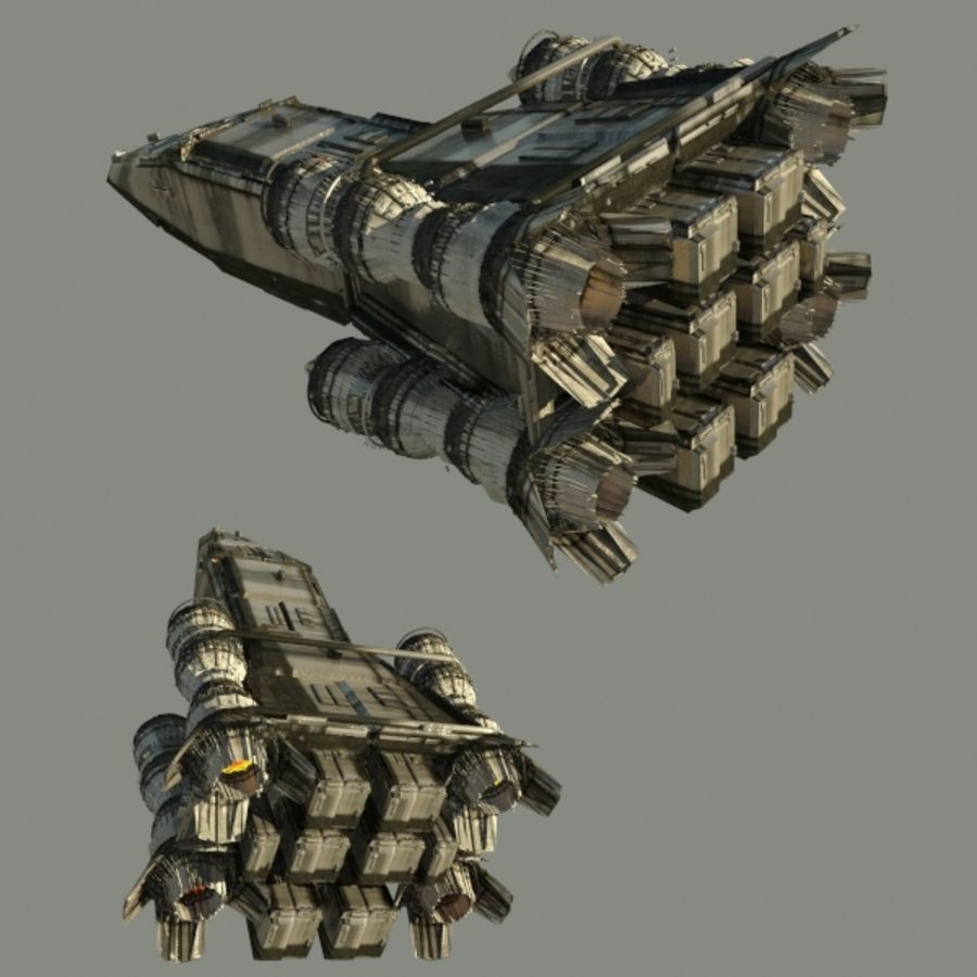 Shape Ship royalty-free 3d model - Preview no. 3