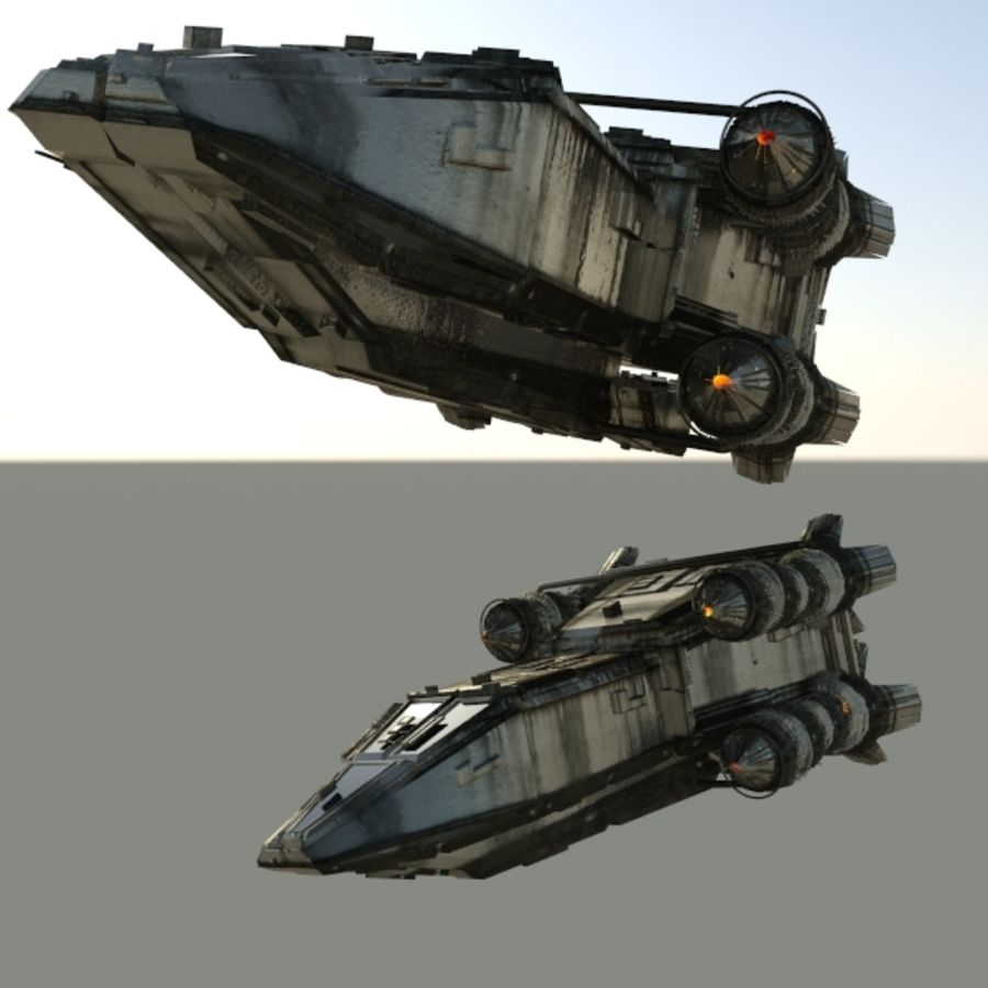 Shape Ship royalty-free 3d model - Preview no. 5