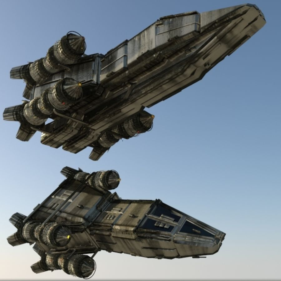 Shape Ship royalty-free 3d model - Preview no. 2