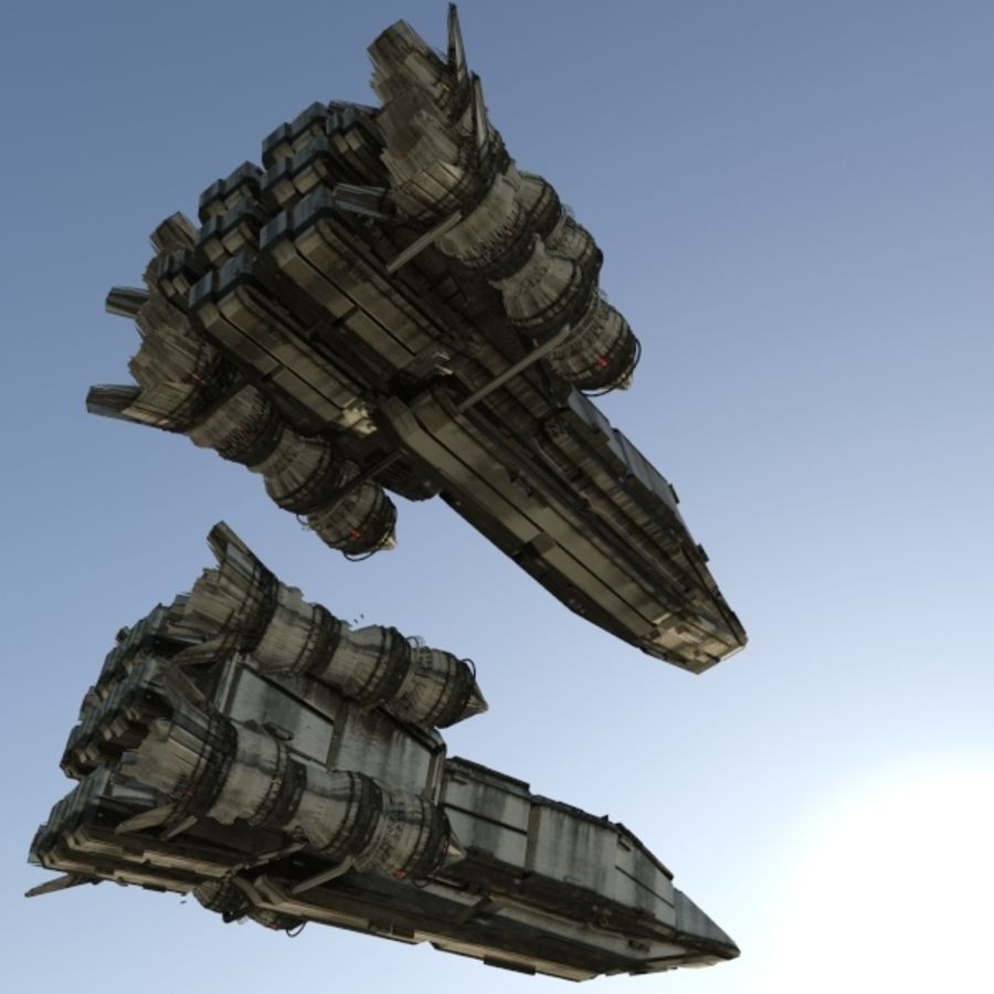 Shape Ship royalty-free 3d model - Preview no. 6