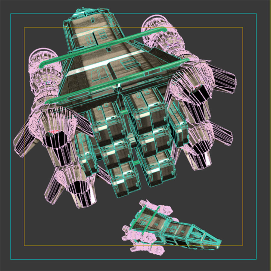 Shape Ship royalty-free 3d model - Preview no. 10