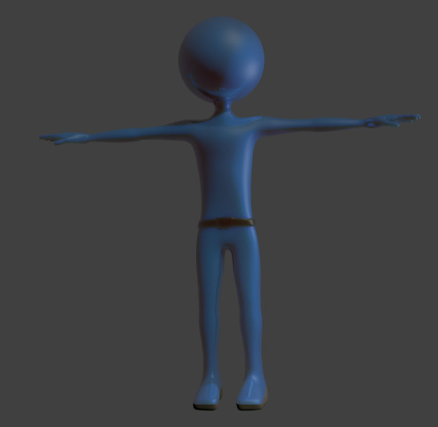 karakter royalty-free 3d model - Preview no. 2