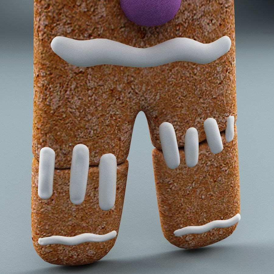 Gingerbread Man Static royalty-free 3d model - Preview no. 9