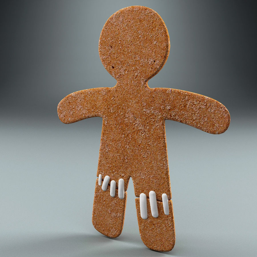 Gingerbread Man Static royalty-free 3d model - Preview no. 3