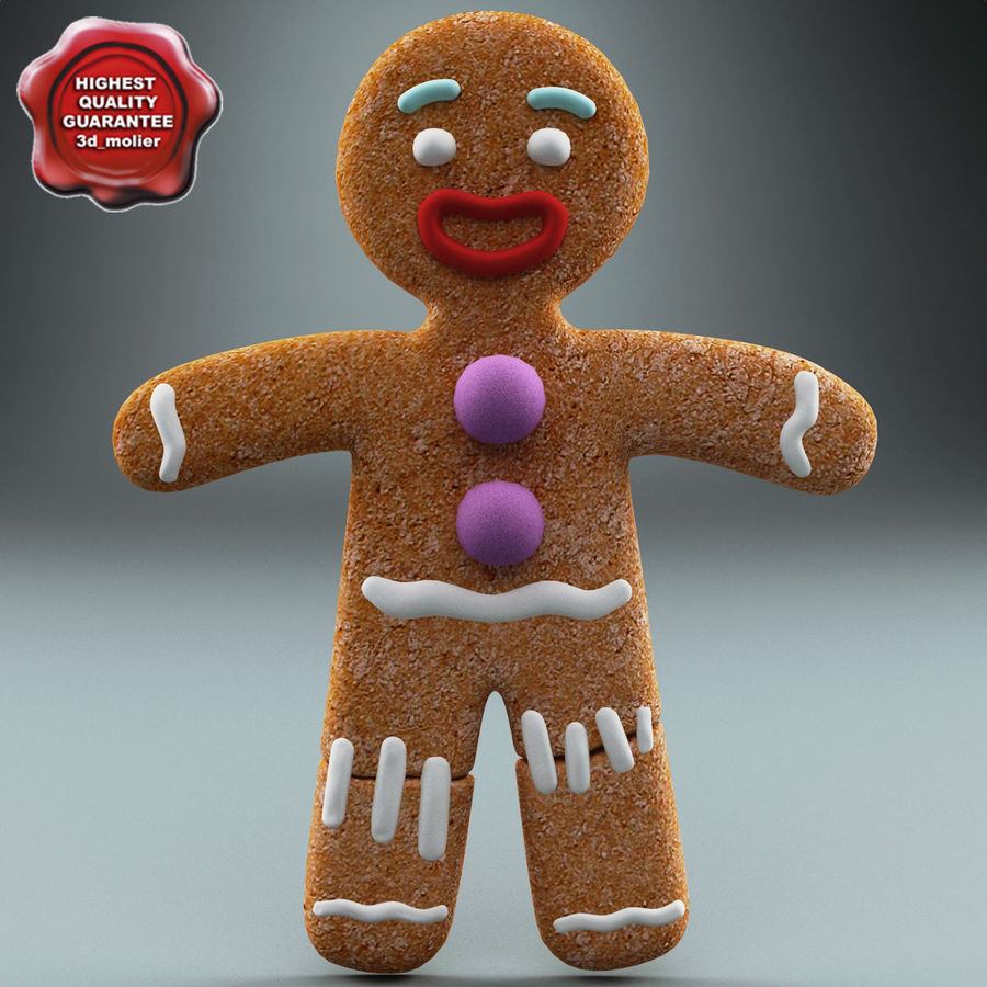 Gingerbread Man Static royalty-free 3d model - Preview no. 1