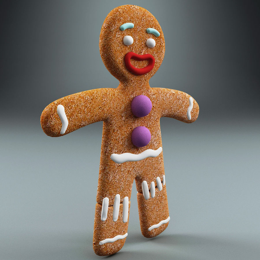 Gingerbread Man Static royalty-free 3d model - Preview no. 2