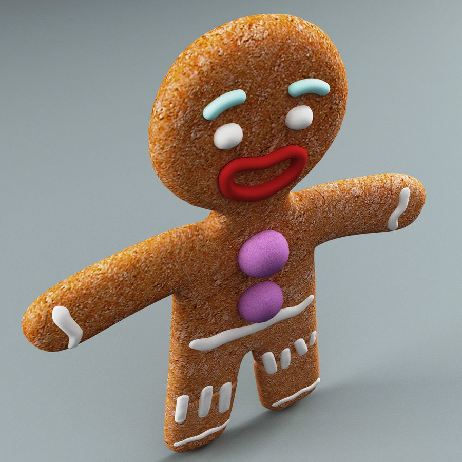 Gingerbread Man Static royalty-free 3d model - Preview no. 5