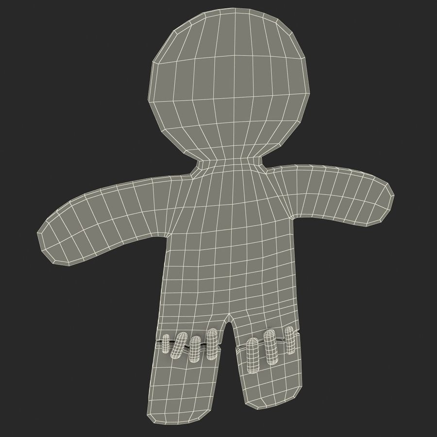 Gingerbread Man Static royalty-free 3d model - Preview no. 12