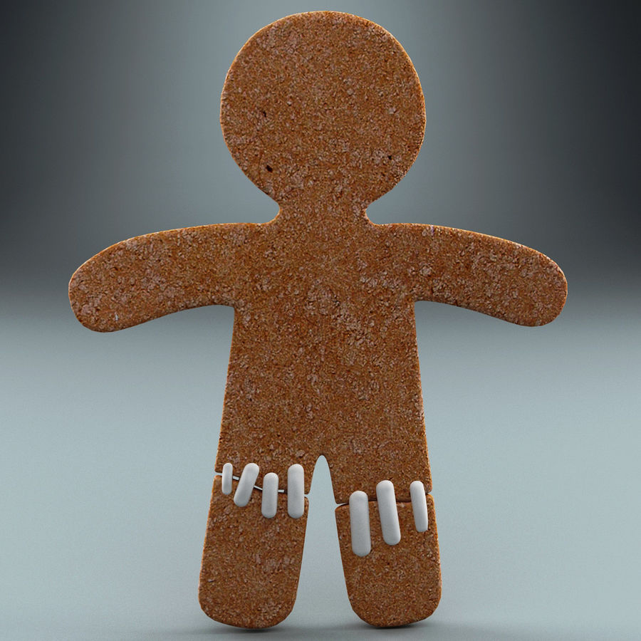 Gingerbread Man Static royalty-free 3d model - Preview no. 4