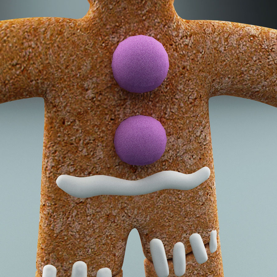 Gingerbread Man Static royalty-free 3d model - Preview no. 8