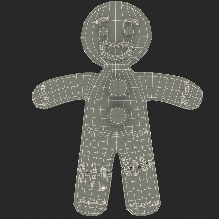 Gingerbread Man Static royalty-free 3d model - Preview no. 11