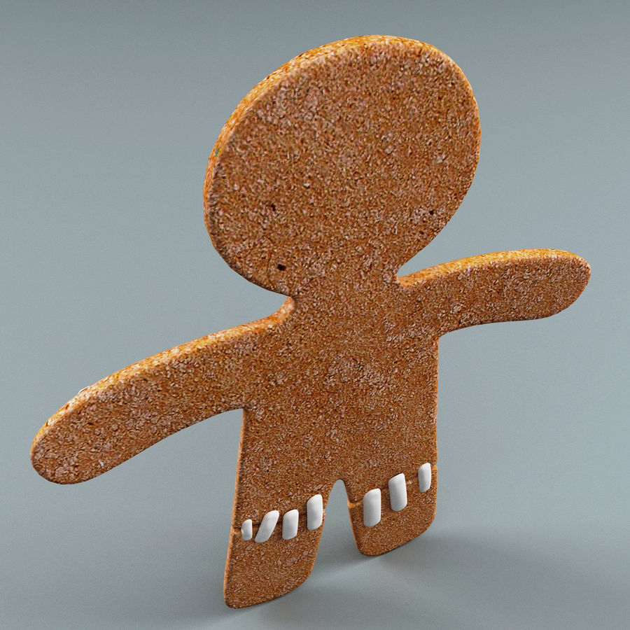 Gingerbread Man Static royalty-free 3d model - Preview no. 6