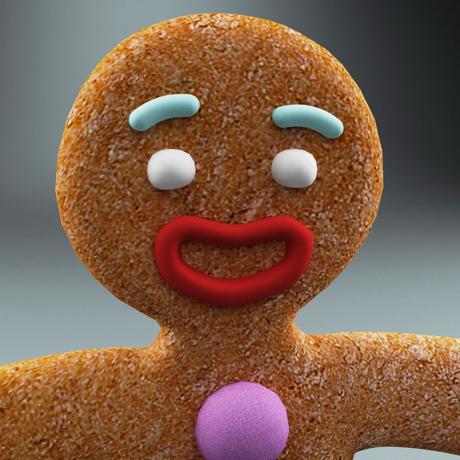 Gingerbread Man Static royalty-free 3d model - Preview no. 7
