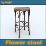 Kwiatowy stołek 3d model