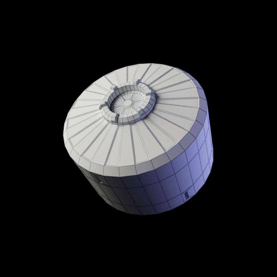 Space Container royalty-free 3d model - Preview no. 6