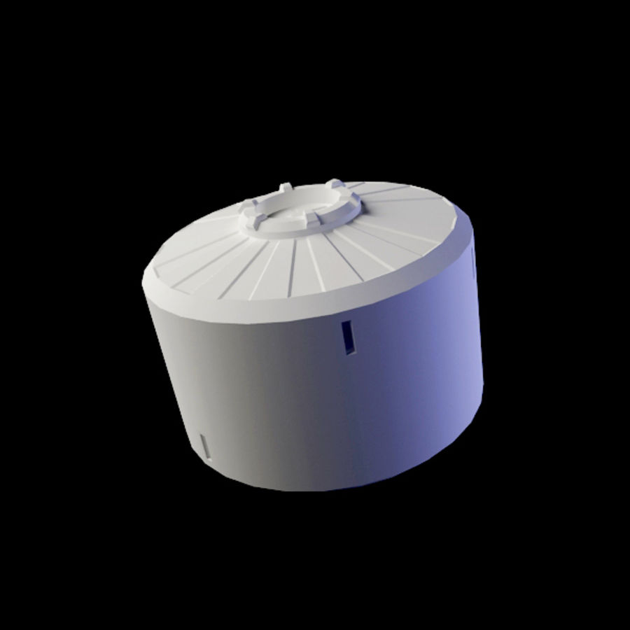Space Container royalty-free 3d model - Preview no. 3