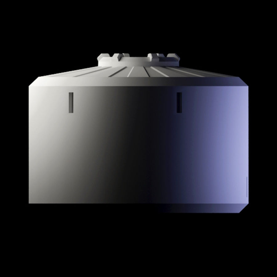 Space Container royalty-free 3d model - Preview no. 4