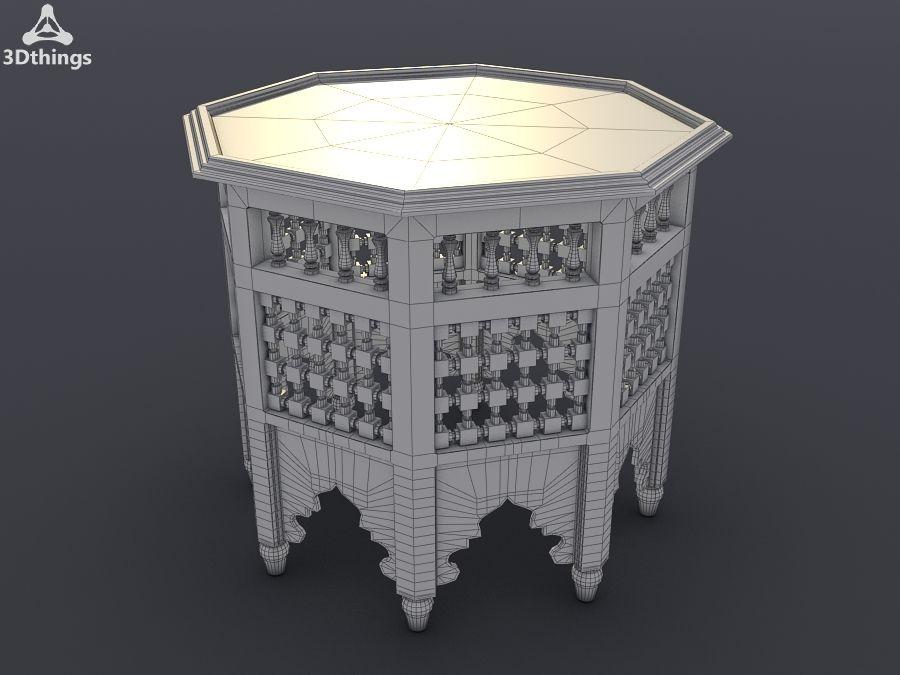 Grande table marocaine en bois peint en rouge modèle 3D $15 ...