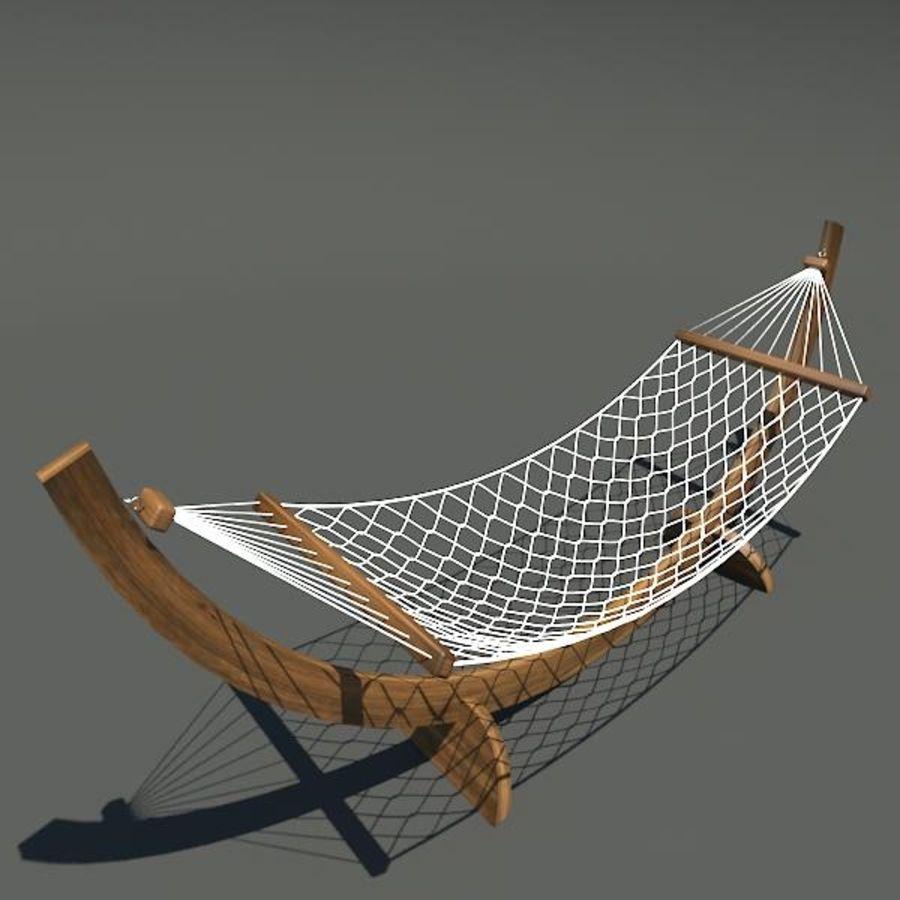 Hammock royalty-free 3d model - Preview no. 6