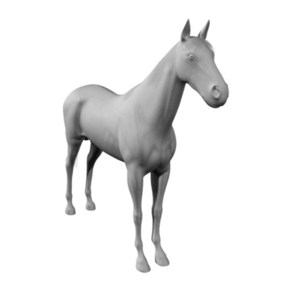 Koń royalty-free 3d model - Preview no. 7
