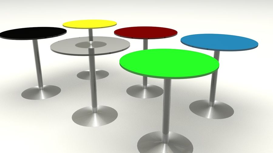 Okrągły stół royalty-free 3d model - Preview no. 1