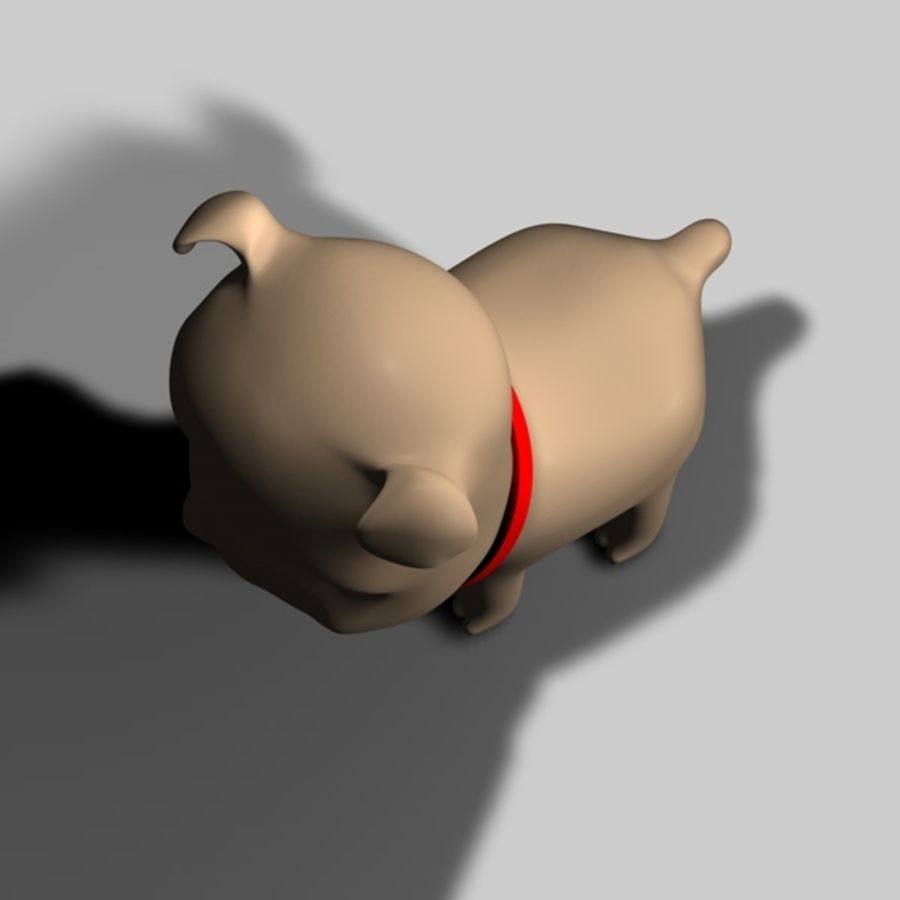 Puppy Dog royalty-free 3d model - Preview no. 7