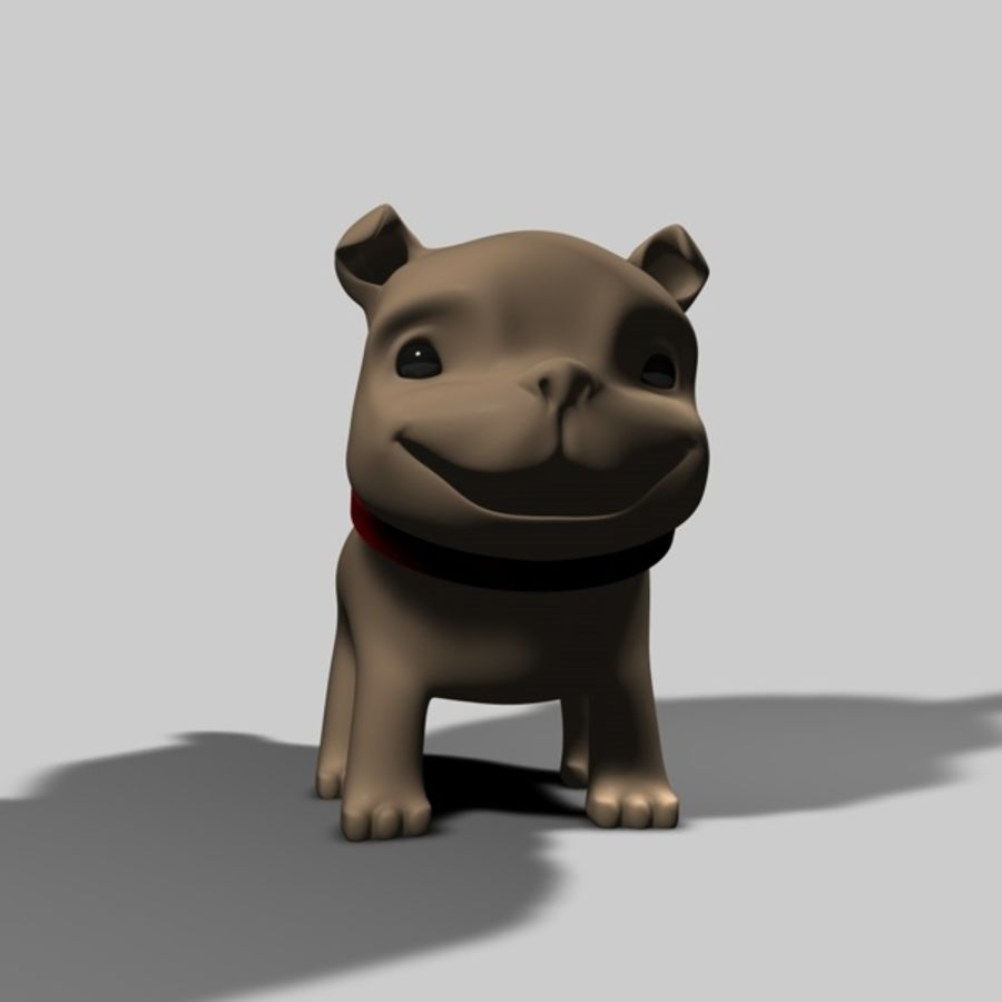 Puppy Dog royalty-free 3d model - Preview no. 5