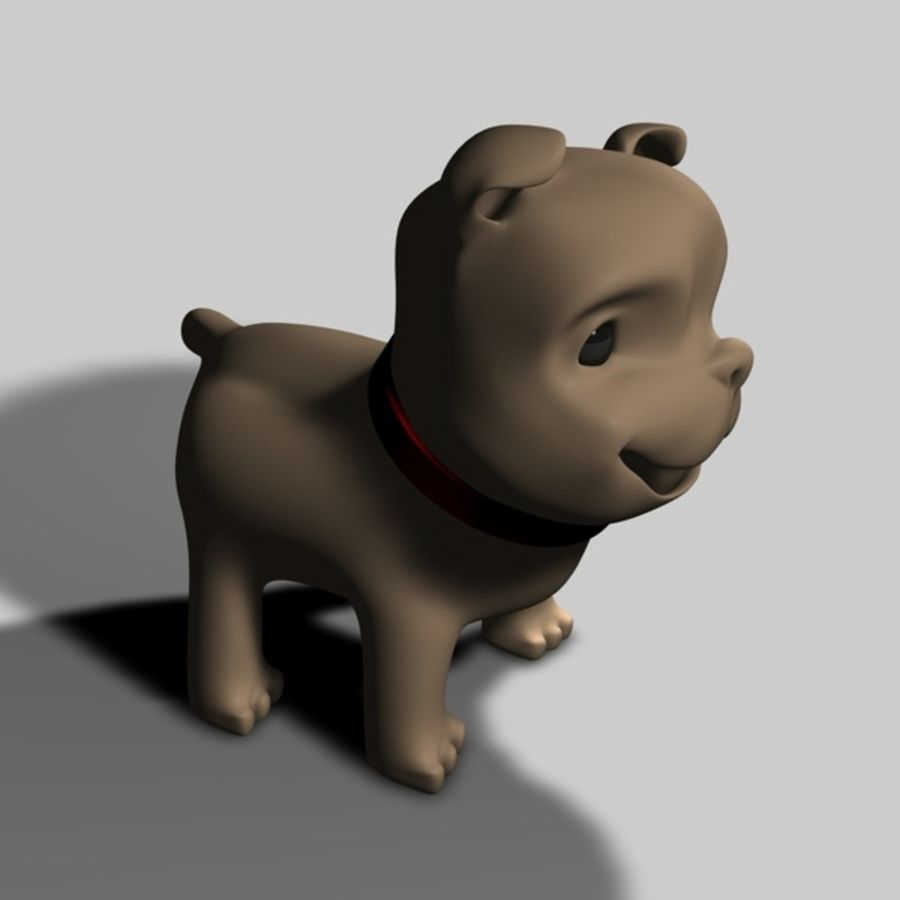 Puppy Dog royalty-free 3d model - Preview no. 10