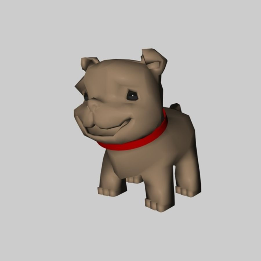 Puppy Dog royalty-free 3d model - Preview no. 3