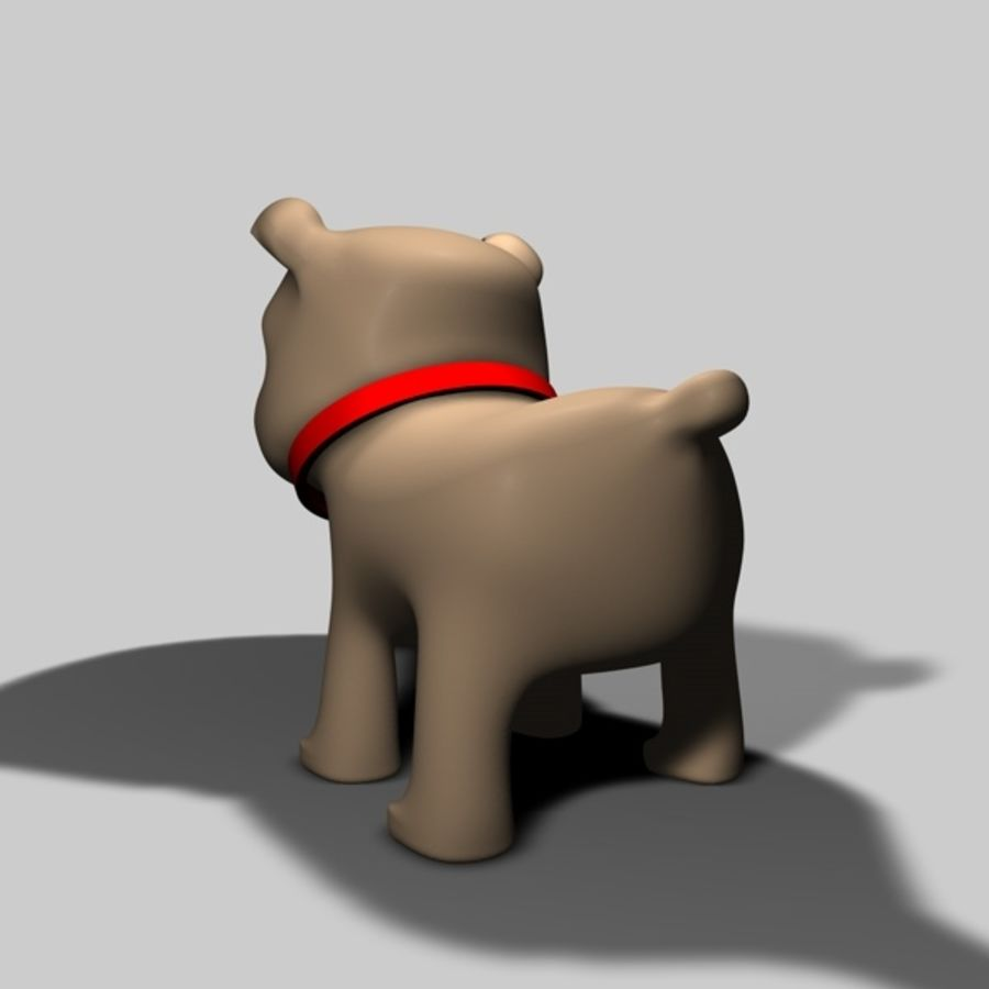 Puppy Dog royalty-free 3d model - Preview no. 6