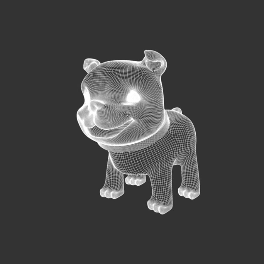 Puppy Dog royalty-free 3d model - Preview no. 4