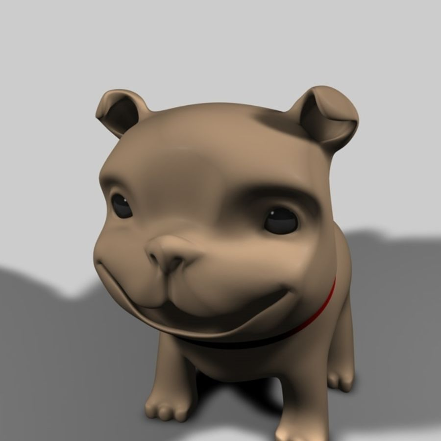 Puppy Dog royalty-free 3d model - Preview no. 9