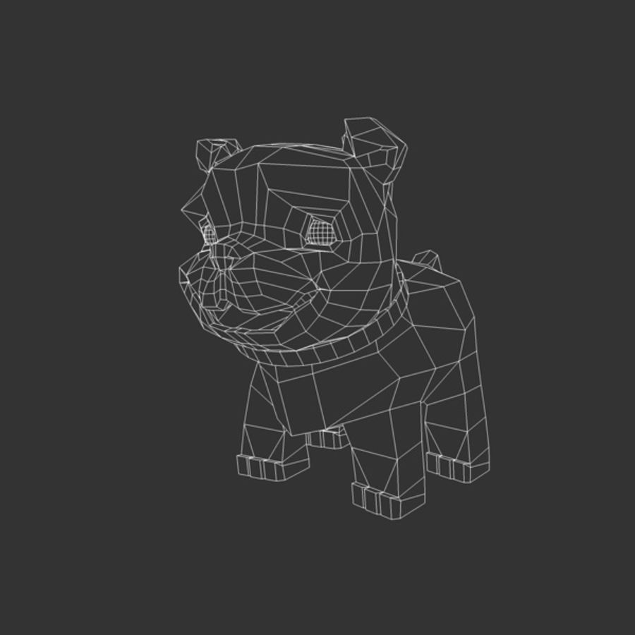 Puppy Dog royalty-free 3d model - Preview no. 2