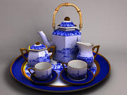 coffee and tea set 3d model