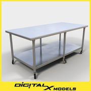 Food Prep Table 3 3d model