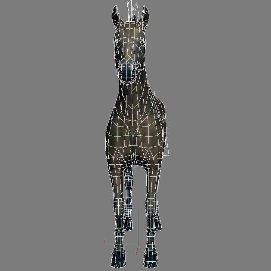 Horse andalusian royalty-free 3d model - Preview no. 10
