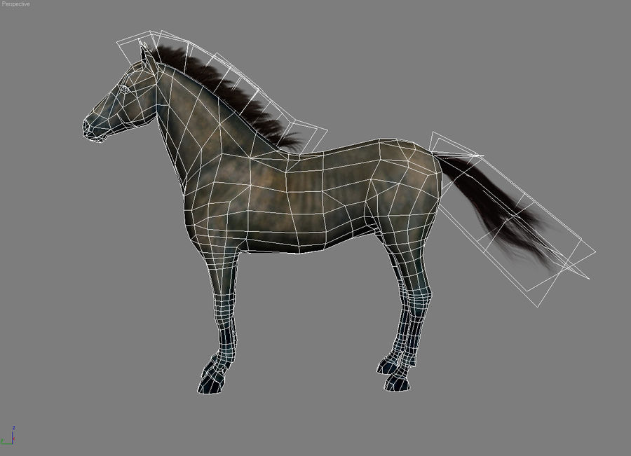 Horse andalusian royalty-free 3d model - Preview no. 5