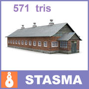 Farm shed old 3d model