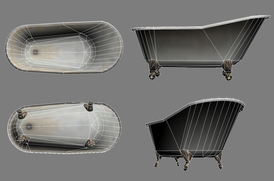Slipper bath royalty-free 3d model - Preview no. 4