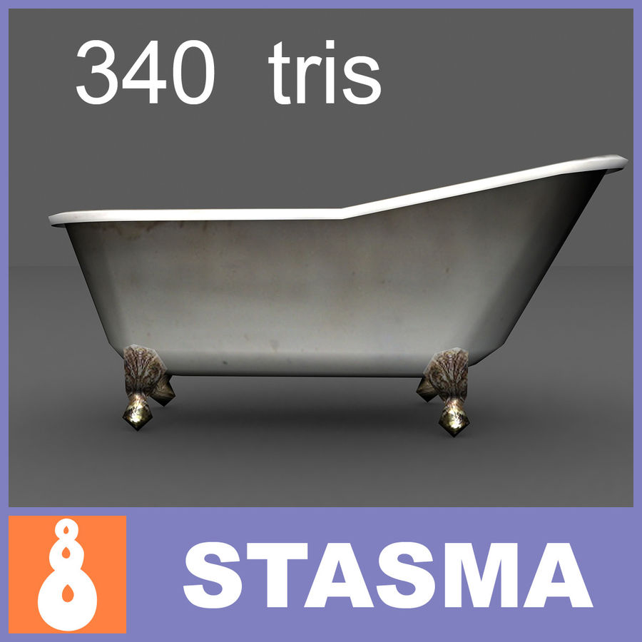 Slipper bath royalty-free 3d model - Preview no. 1
